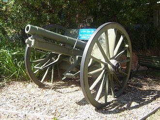 Battle of Amiens (1918) - A German 7.7 cm FK 96 n.A. field gun captured during the course of the battle by the 33rd Australian Battalion