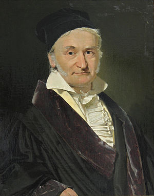 Carl Friedrich Gauss - Carl Friedrich Gauß (1777–1855), painted by Christian Albrecht Jensen