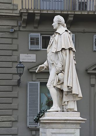 Ulisse Cambi - Statue of Carlo Goldoni in Florence