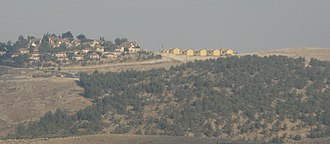 Israeli occupation of the West Bank - Israeli Carmel settlement