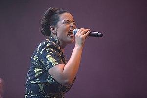 Caro Emerald - Emerald singing in the Rotterdam, Netherlands on 9 July 2010