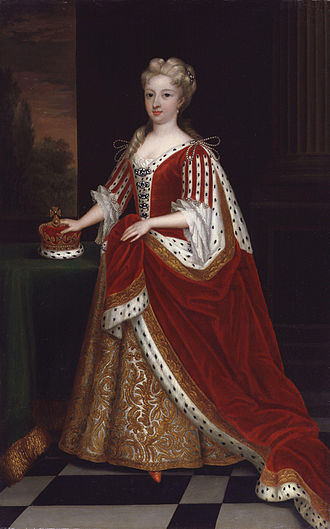 Caroline of Ansbach - The Princess of Wales, painted by Sir Godfrey Kneller in 1716