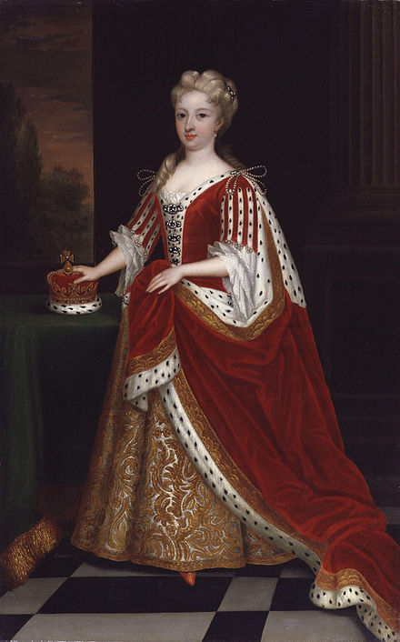 The Princess of Wales, painted by Sir Godfrey Kneller in 1716 Caroline Wilhelmina of Brandenburg-Ansbach by Sir Godfrey Kneller, Bt.jpg