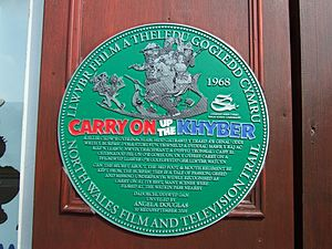 Carry On Up the Khyber - A plaque in Llanberis, Wales, commemorates the filming nearby