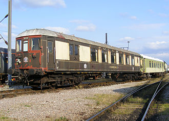 Brighton Belle - Driving Cars 88 and 91 were coupled together for the very first time when the latter arrived at Rampart of Derby for restoration in September 2009.