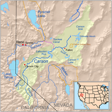 California trail wikipedia map of the carson truckee humboldt river drainage system western nevada freerunsca Choice Image