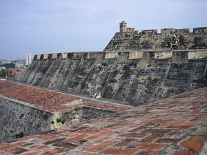 War of Jenkins' Ear - Castillo San Felipe de Barajas (Cartagena). This (then incomplete) fortress was integral to Spain's effort to maintain the link with its colonies via the Atlantic sea lanes.