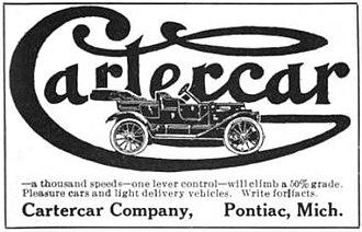 Cartercar - 1912 Cartercar - Pontiac, Michigan