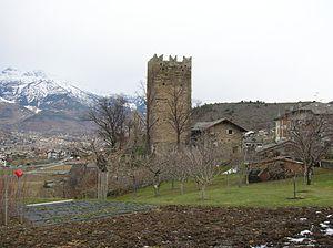 Gressan - the Castle of   Tour de Villa
