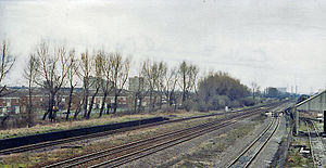 Castle Bromwich railway station - Remains in 1984