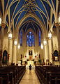Cathedral of Saint Mary of the Immaculate Conception (Peoria, Illinois) - nave, with worshipper.jpg