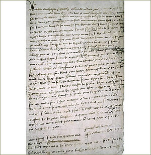 English: Letter from Catherine Howard to Thoma...