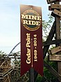 Cedar Point Cedar Creek Mine Ride 45th anniversary banner (1627).jpg