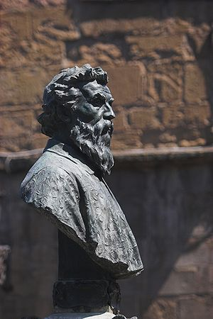 Benvenuto Cellini - Bust of Benvenuto Cellini on the Ponte Vecchio, Florence