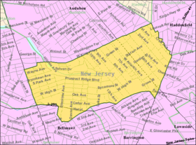 Census Bureau map of Haddon Heights, New Jersey.png