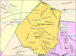 Census Bureau map of Wharton, New Jersey
