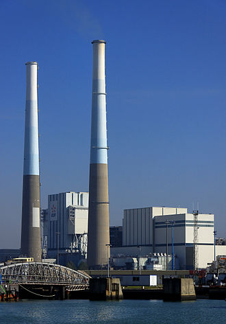 The EDF Thermal power plant of Le Havre. Centrale thermique Le Havre.JPG