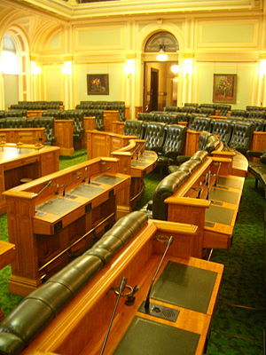 Legislative Assembly of Queensland - Image: Chamber of the Queensland Legislative Assembly