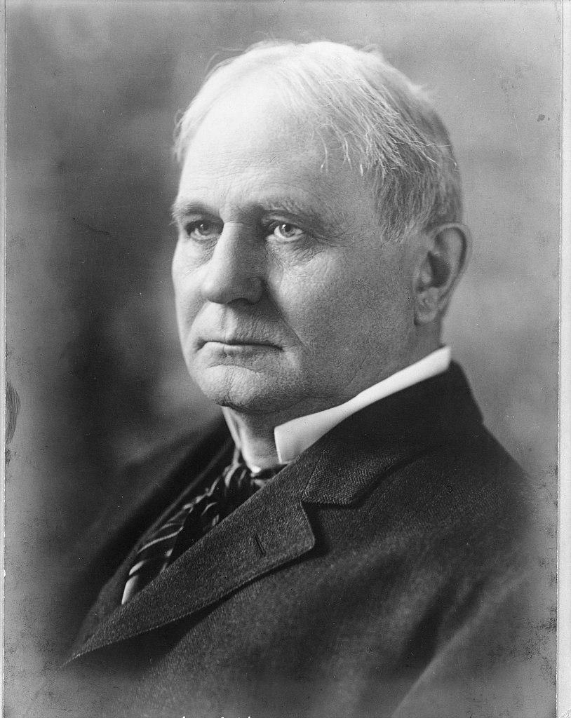 Champ Clark, head-and-shoulders portrait, facing left