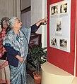 "Chandresh Kumari Katoch going round after inaugurating an exhibition of the original correspondence of Gandhiji and Herrman Kallenbach entitled ""Gandhi-Kallenbach Papers"", in New Delhi on January 30, 2013.jpg"