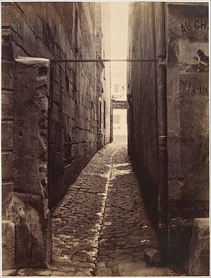 Charles Marville, Rue du Chat-qui-Pêche (from the Rue de la Huchette), ca. 1868.jpg