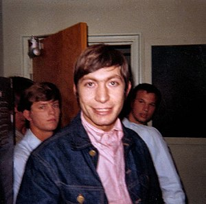 Charlie Watts - Watts, backstage prior to performing with The Rolling Stones at Georgia Southern University on 4 May 1965