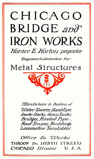 Chicago Bridge & Iron Company - Image: Chicago Bridge & Iron Works (1912 catalog)