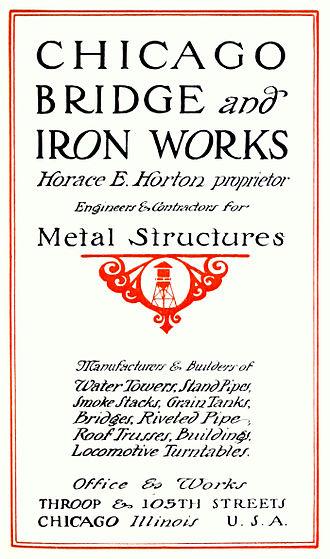 Chicago Bridge & Iron Company - Image: Chicago Bridge & Iron Works (1912 catalog)
