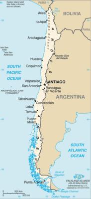 Cile - Mappa