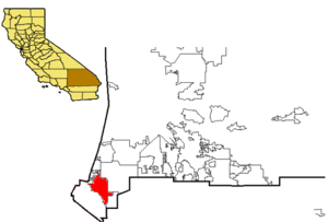 Rancho Santa Ana del Chino - San Bernardino, with Chino highlighted