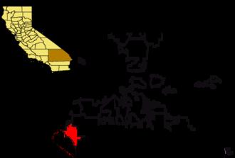 Rancho Santa Ana del Chino - San Bernardino, with Chino highlighted