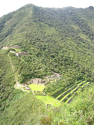 Choquequirao - Main structures of Choquequirao