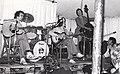 Chris Newman group with Diz Disley, Cambridge 1977.jpg