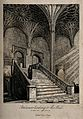 Christ Church, Oxford; staircase to the Hall. Etching. Wellcome V0014079.jpg