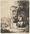Christ and the Woman of Samaria among Ruins (reverse copy) MET DP814428.jpg