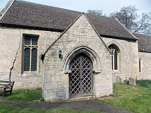 Church porch - Image: Church of St Guthlac, Little Ponton South porch