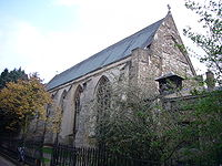 photograph of church, viewed from the outside