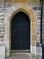 Church of the Holy Innocents, High Beach, Essex, England - Vestry door.jpg