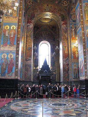 Church of the Savior on Blood - Mosaics in the interior.