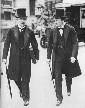David Lloyd George -  David Lloyd George and Winston Churchill in 1907