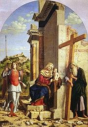 Vierge à l'Enfant entre l'archange saint Michel et l'apôtre saint André