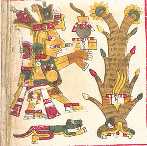 Centeotl - Centeotl as depicted in the Borgia Codex.