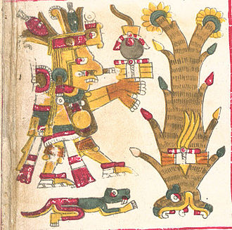 Centeōtl - Centeotl as depicted in the Borgia Codex.