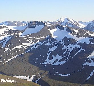 Cirque - Two cirques with semi-permanent snowpatches near Abisko National Park, Sweden