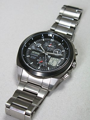 Citizen Watch - Citizen Attesa Eco-Drive ATV53-3023 analog-digital chronograph with 3 area Radio Controlled reception (North America, Europe, Japan).