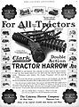 Clark Cutaway double action tractor harrow, 1919 advertisement.jpg