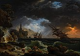 Claude-Joseph Vernet - A Shipwreck in Stormy Seas (Tempete) - c 1773 - National Gallery UK.jpg