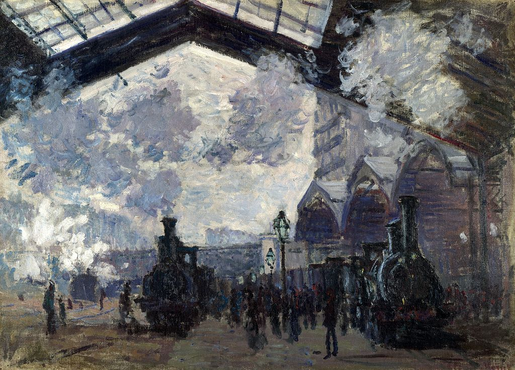 Claude Monet, The Gare St-Lazare, 1877