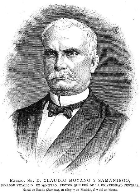 Claudio Moyano, en La Ilustración Española y Americana