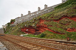 Cliffs above the sea wall in Dawlish (7245).jpg
